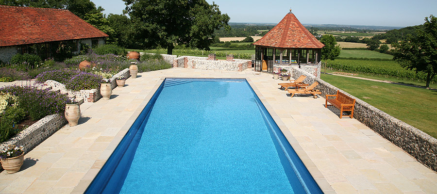 onsite liner swimming pool
